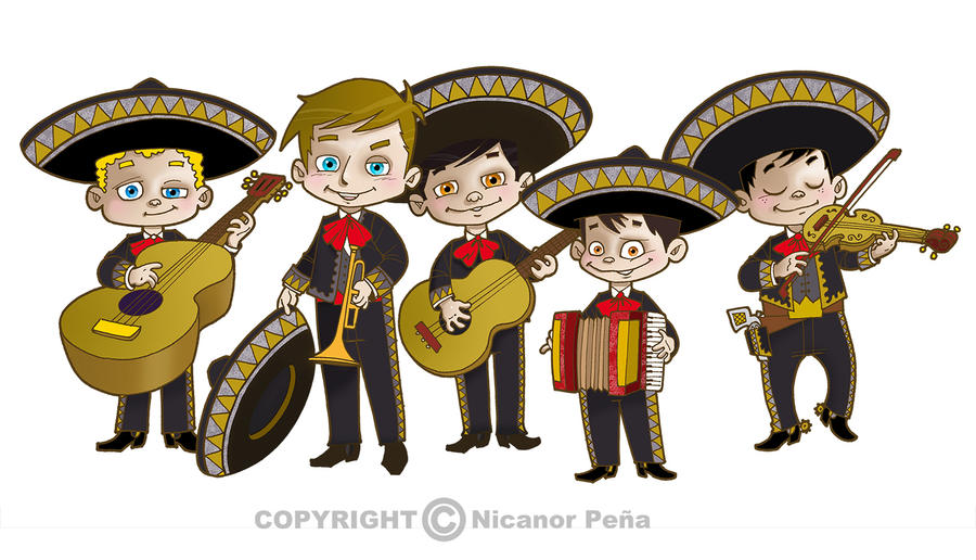 mariachis from mexico by pecart on deviantart mariachi guitar clipart mariachi clip art pdf