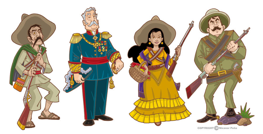 mexican revolution characters by pecart on deviantart
