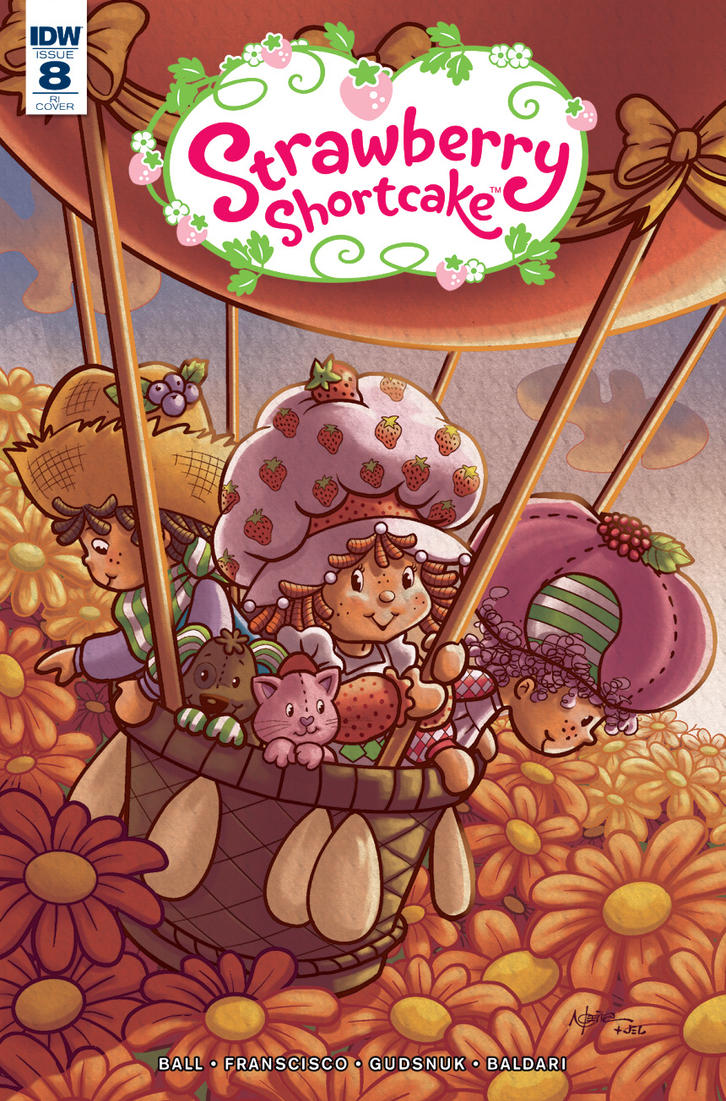 Strawberry shortcake IDW variant cover #8 by pecart