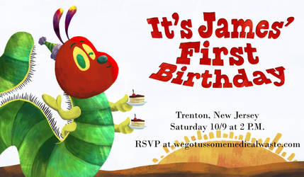 Baby James' First Birthday Invite