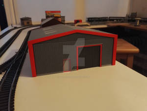 3D Printed Building C1 - Rear view