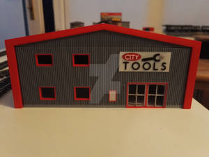 3D Printed Building C1 - Front view