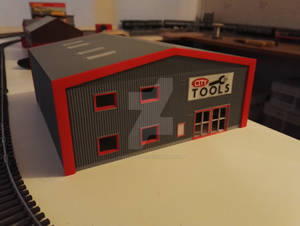 3D Printed Building C1 - Another Front view