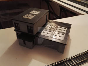 3D Printed Building I1 - Rear view