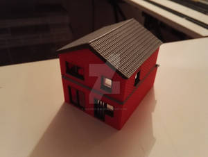 3D Printed Building H1 - Rear view