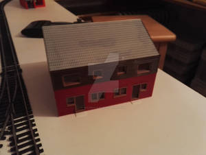 3D Printed Building H2 - Rear view