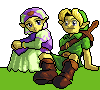Awww Link and Zelda by RaiuDragon