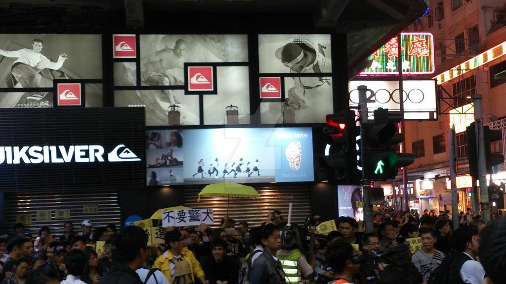 2014 Umbrella Movement@Mongkok, Hong Kong by vampirekiki