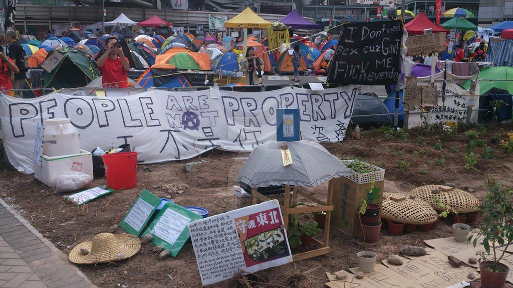 Farming@Umbrella Movement, Hong Kong, 2014 by vampirekiki