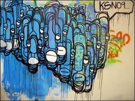 dirtybluewall by kusiiion