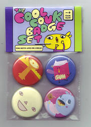 The Cool Couk Badge Set by Couk