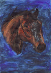 Finger paint - horse by Lorello