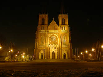 Cathedral at night - Poland by DreamingRabit