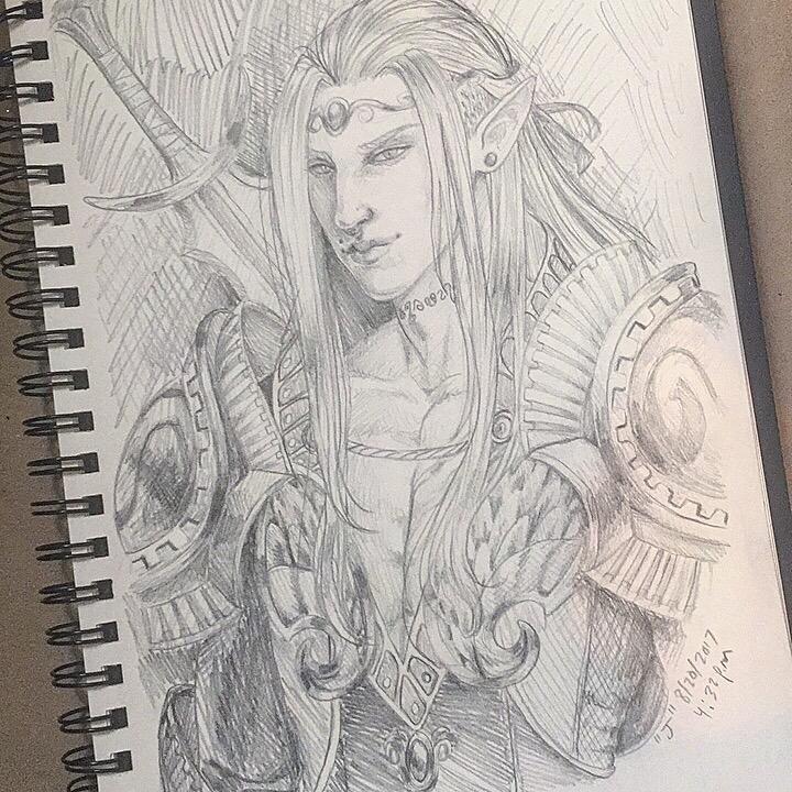 Amethyn Sketch by AliciaEvan