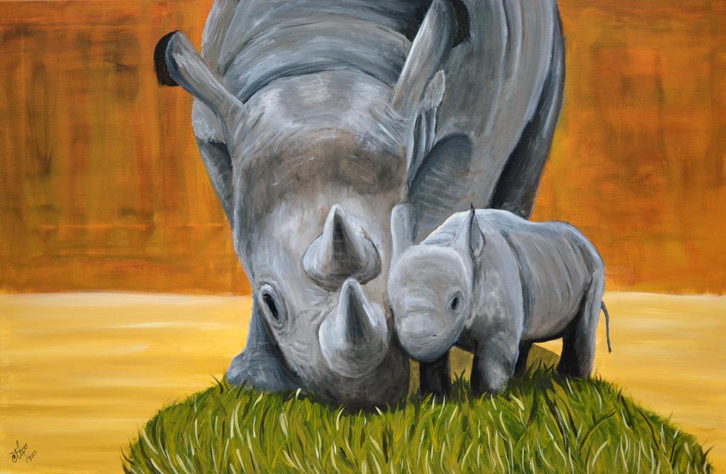 Rhinos by abdulhamid-alattar