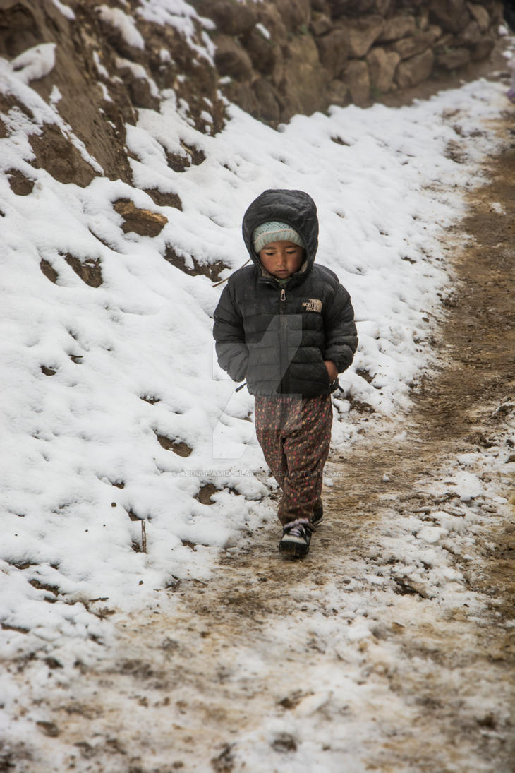 Nepali kid by abdulhamid-alattar