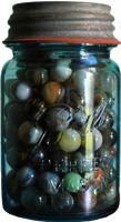 Jar of Marbles PNG 02