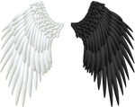 Good and Evil Angel Wings PNG