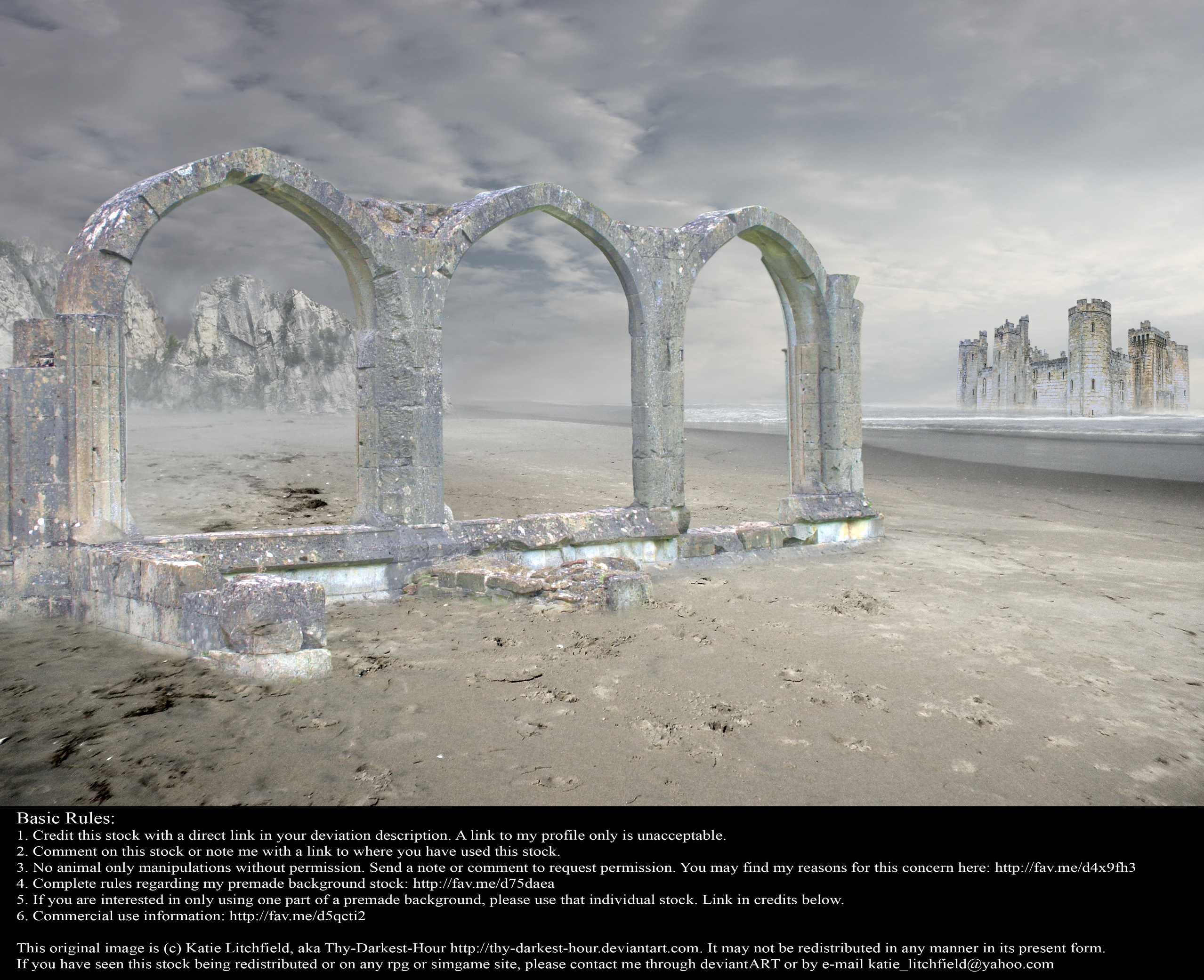 Ruins of Desolation 01 - Stock by Thy-Darkest-Hour