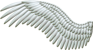 Spread Silver Wings PNG