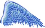 Blue Angel Wing PNG
