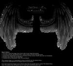 Winged Fantasy - Black-Gray