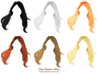 Hair PNG's 02 by Thy-Darkest-Hour