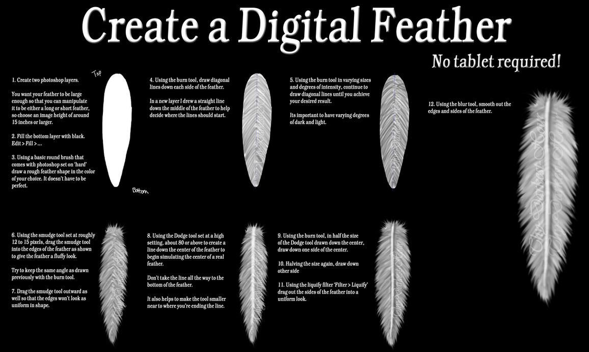 Create A Digital Feather by Thy-Darkest-Hour