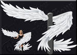 Wrap-Around Wings - White