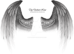 Winged Fantasy Silver - Premium PSD Download
