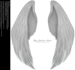 Furred Feathered Wings - White PNG