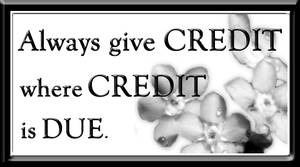 Give Credit - Free Stamp