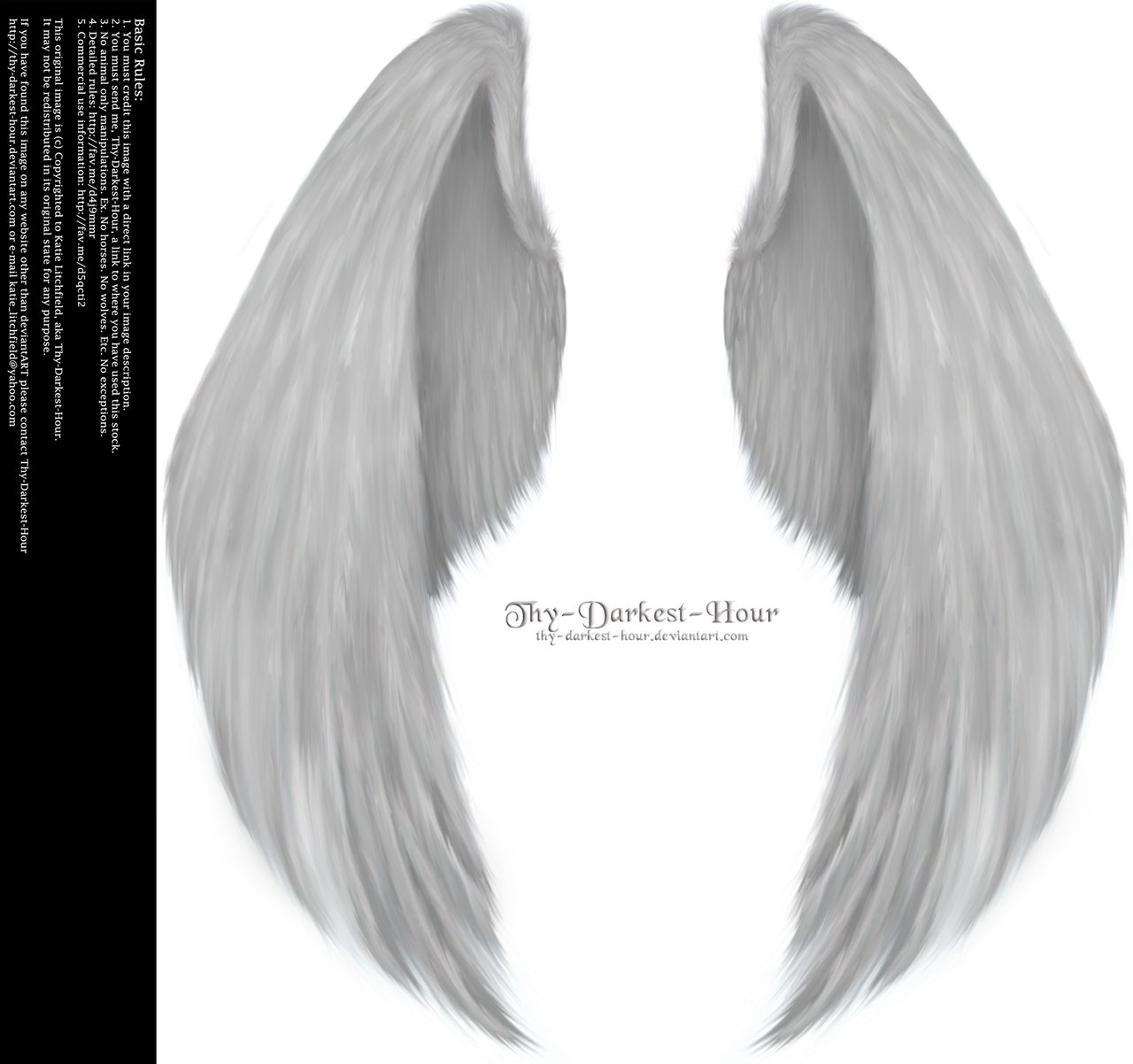 Folded Furry Wings Silver by Thy-Darkest-Hour