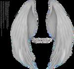 Folded Furry Wings Silver