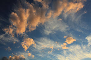 Pink Clouds Blue Sky 02 by Thy-Darkest-Hour