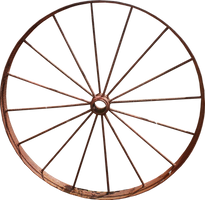 Iron Wagon Wheel PNG by Thy-Darkest-Hour
