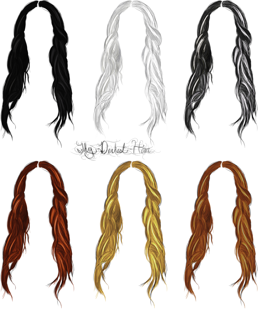 Hairstyle Png : Hair Png Files Hair stocks 08 by thy-darkest-