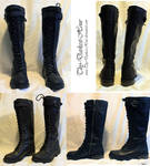 Knee-High Combat Boots