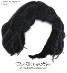 Hair PNG 11 by Thy-Darkest-Hour