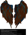 Heart Shaped Wings - Brown