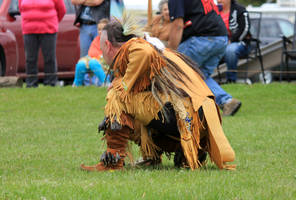 Crouching Native American 02