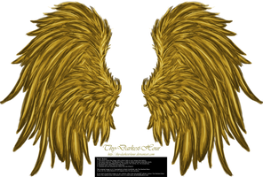 Frill and Fluff Wings - Golden