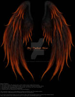 Winged Fantasy V2 - Phoenix Fire PNG PSD