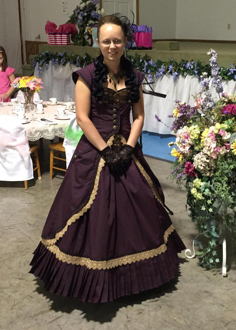 Victorian Steampunk Gown by Thy-Darkest-Hour on DeviantArt
