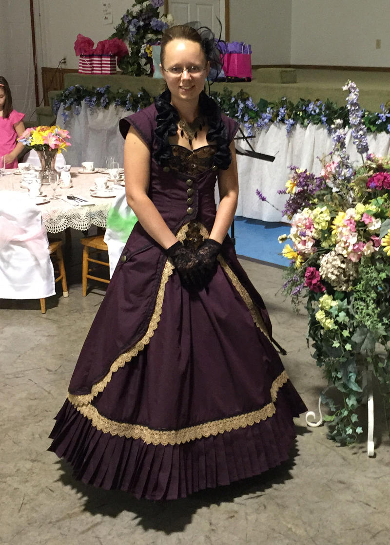 Victorian Steampunk Gown by Thy-Darkest-Hour