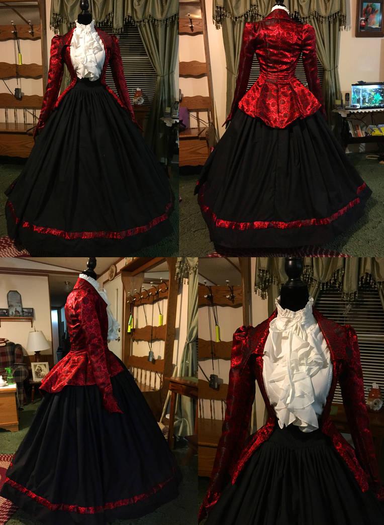 Civil War Day Gown by Thy-Darkest-Hour