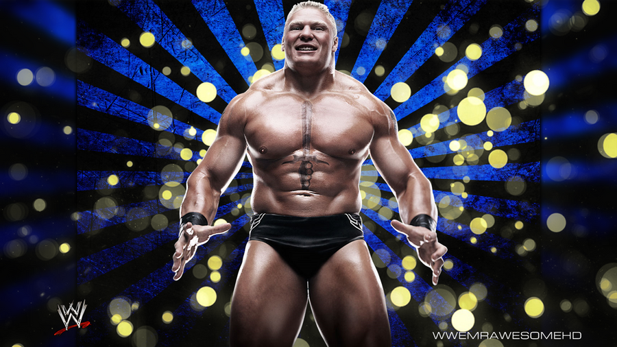 WWE Brock Lesnar Background With Logo By MrAwesomeWWE