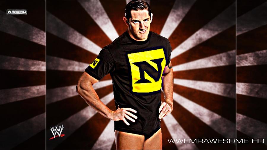 WWE The Nexus Wade Barrett Background With Logo