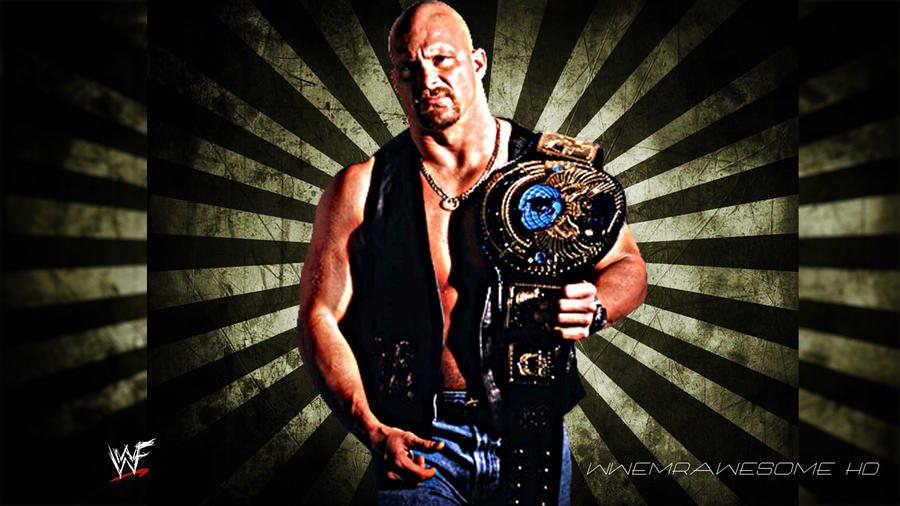 WWF Stone Cold Steve Austin Background With Logo By
