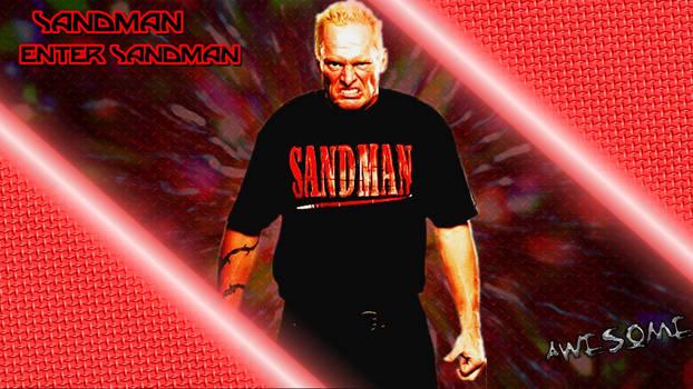 Sandman Custom WWE Wallpaper